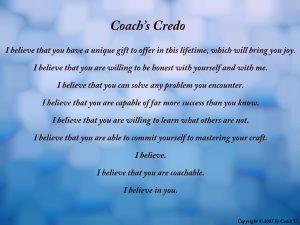 coach's credo
